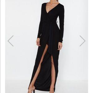 Nasty Gal Wrap Knit Dress